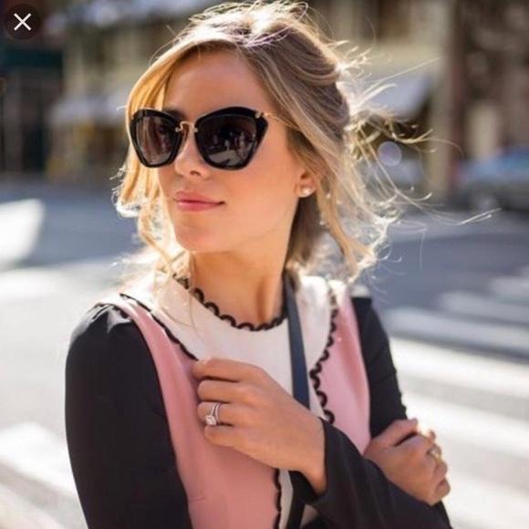 2a69085f603 Miu Miu Butterfly Black Jeweled Sunglasses. M 5b3541ff534ef9efb2a2d246